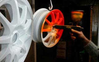 Покраска колесных дисков с помощью порошковой краски