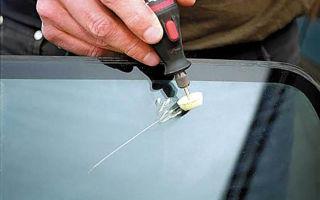 Как удалить царапины на лобовом стекле
