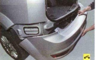 Установка заднего бампера форд