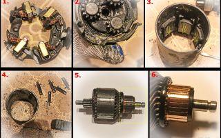 Замена стартера и обслуживание генератора на переходной модели audi 80