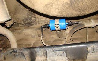 Замена топливного фильтра ваз-2115
