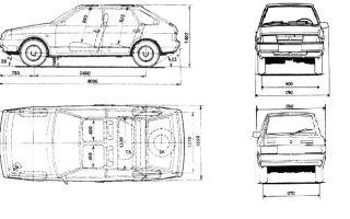 Параметры автомобиля ваз 2109