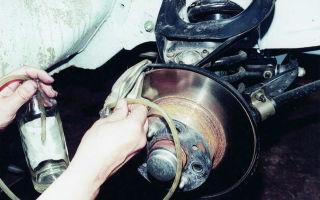 Замена тормозной жидкости ваз
