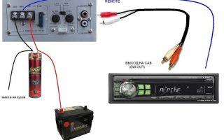 Как подключить сабвуфер к автомагнитоле