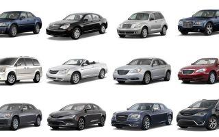 Автомобили chrysler — модельный ряд автомобилей крайслер