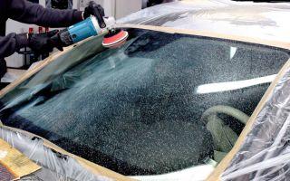 Как отполировать лобовое стекло