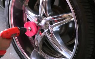 Полировка колесных дисков: основные этапы работы