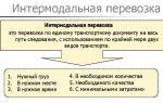 Особенности процесса интермодальной транспортировки грузов