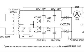 Cхема зарядного устройства для автомобиля