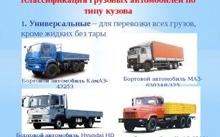 Виды грузовых перевозок по типам транспортных средств